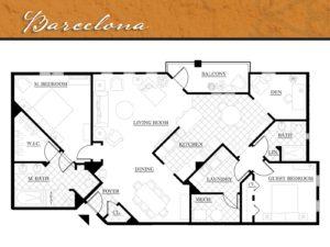 Corazon floor plan Barcelona - 1,715 square feet. Zablo and Sons.