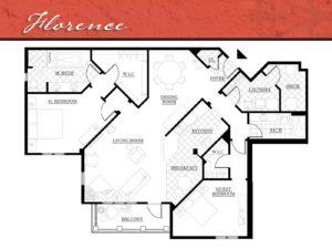 Corazon Condos floor plan Florence - 1,715 square feet.