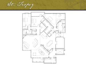 Corazon Condominiums floor plan, St. Tropez, 3,500 square feet. Zablo and Sons, North Canton.