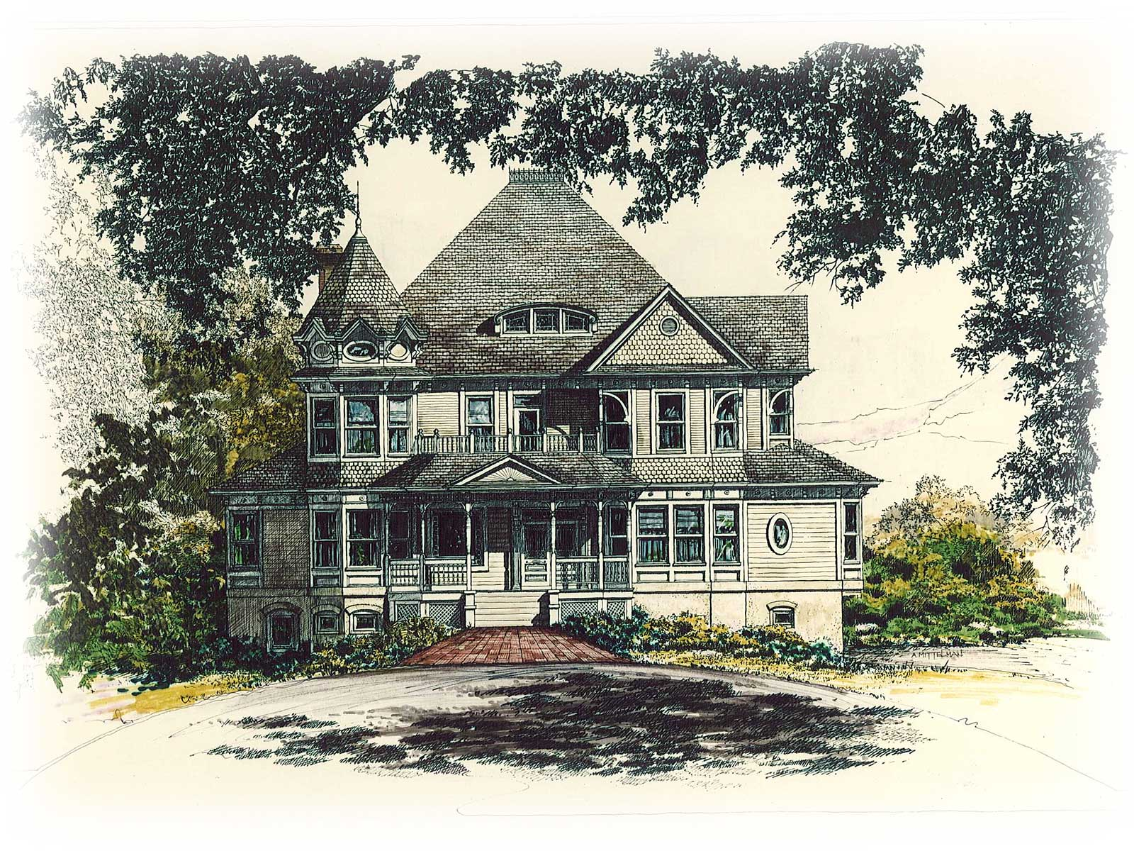 Home builders canton ohio - Zablo And Sons Custom Home Concept Art Victorian Style Home