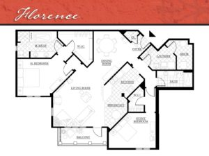 Corazon Condos floor plan Florence - 1,715 square feet.