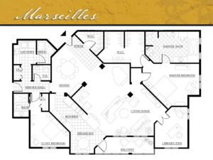Corazon Condominiums floor plan, Marseilles, 2,290 square feet. Zablo and Sons, North Canton.