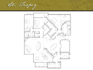 Corazon Condominiums floor plan, St. Tropez, 3,500 square feet. Zablo and Sons, North Canton.