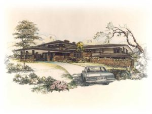 Zablo and sons custom home concept art. Prairie style home.