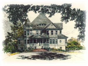 Zablo and Sons custom home concept art. Victorian style home.