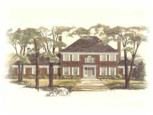 Zablo and Sons custom home concept art. Georgian Colonial.